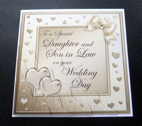 Daughter & Son In Law Wedding Day Card   4 Colours   eBay