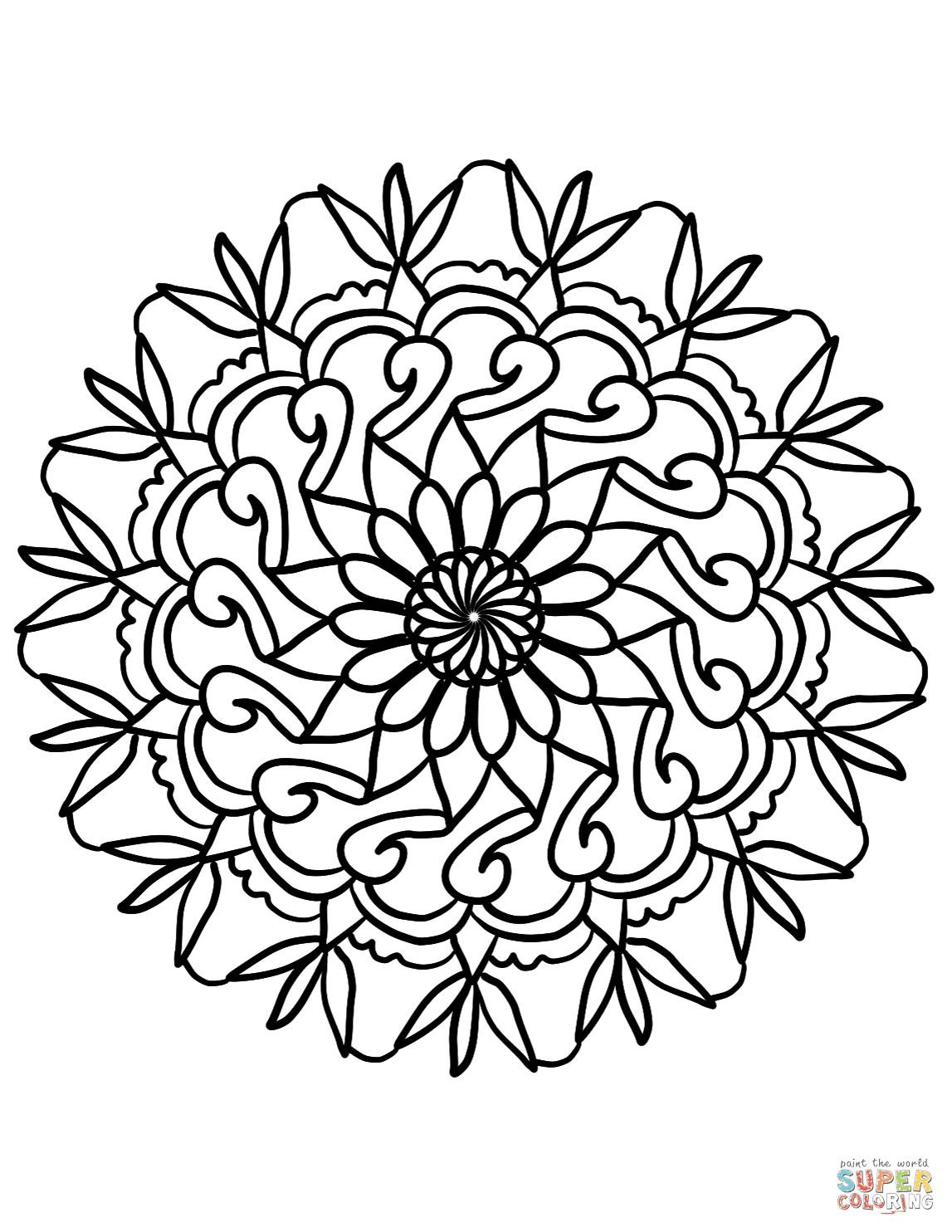 Simple Flower Mandala Coloring Page Free Printable Coloring Pages