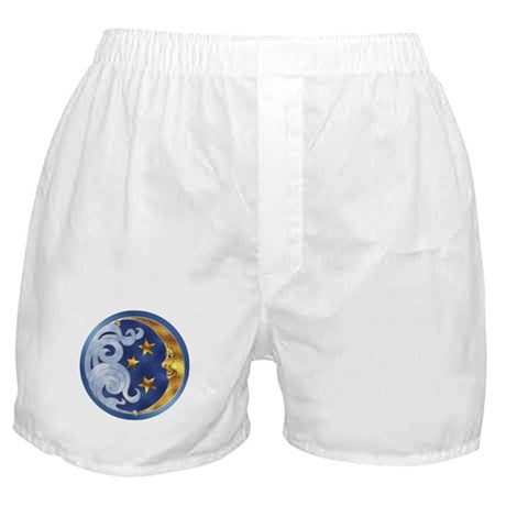 Celestial Moon and Stars Boxer Shorts
