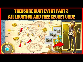 TREASURE HUNT EVENT PART 3 ALL LOCATION AND FREE SECRET CODE (PUBG MOBILE)