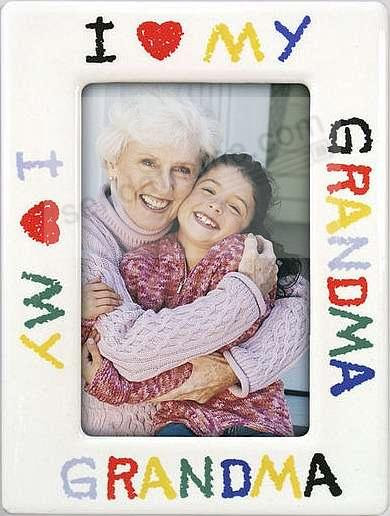 I Love Grandma Drawing Frame Picture Frames Photo Albums