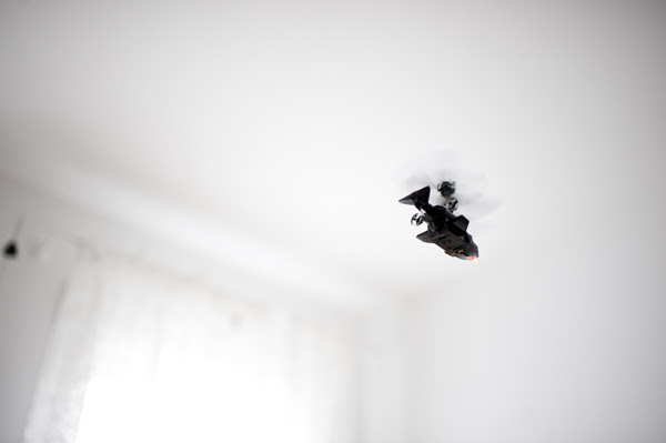 helicopter in the house