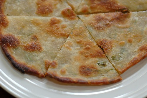 Green Onion Pancake At Imperial Tea Court in North Berkeley, by Eve Fox, Garden of Eating blog