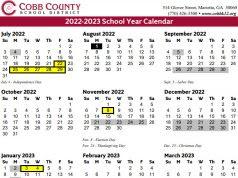 Cobb County Schools Calendar 2022 23.Cobb County Schools 2021 22 Calendar 2021 Calendar