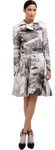 Mary Katrantzou Landscape Light Jacquard Biker Jacket - Lyst