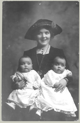 woman and twins