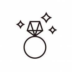 ダイヤの指輪シルエット イラストの無料ダウンロードサイト