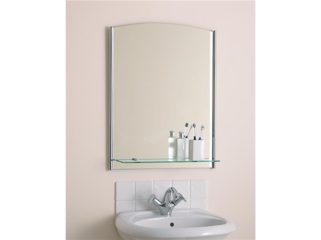 Tempest Designer LED Bathroom Mirror With Shelf Main Image