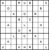 Mystery Godoku Puzzle for September 01, 2014
