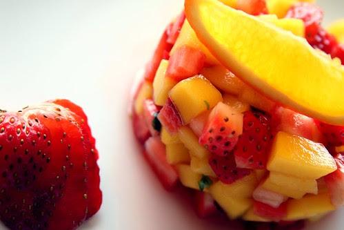 tartare mango e fragole
