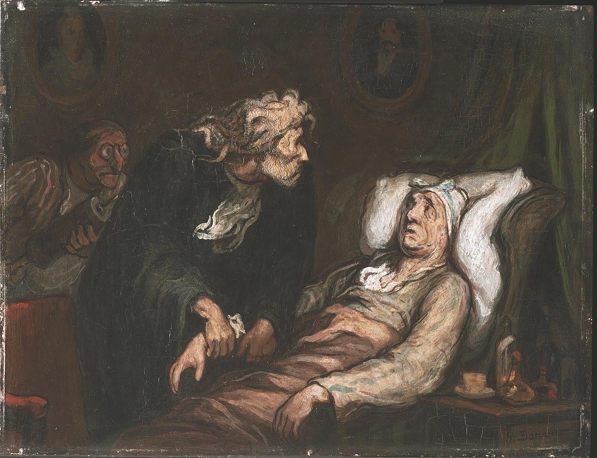 Le Malade imaginaire, vu par Honoré Daumier.