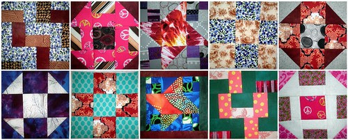 Quilting Gallery - Beginner's Quilt Along - 2 of each of the first 5 blocks