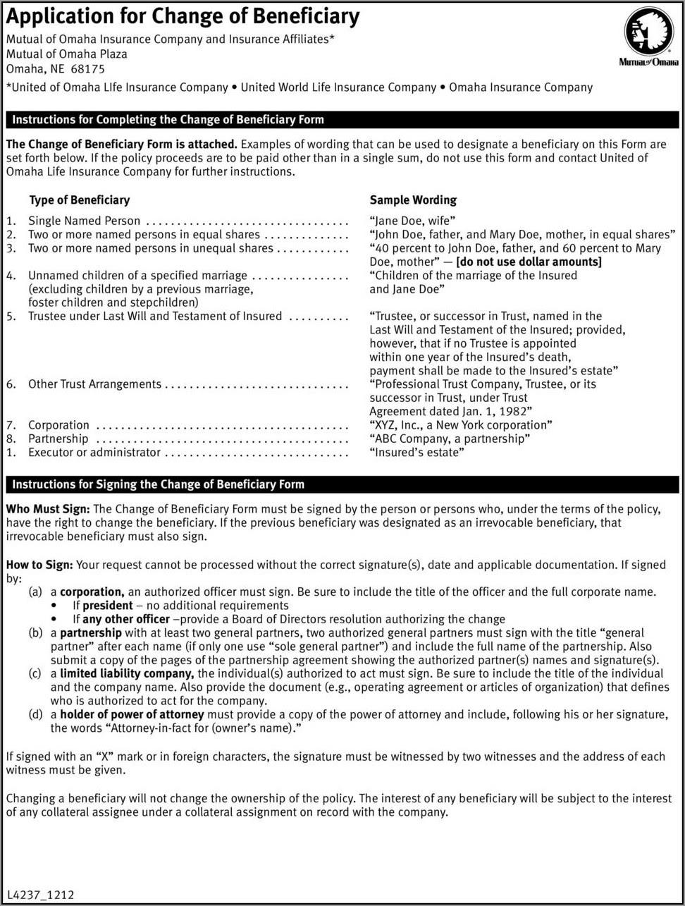 Mutual Of Omaha Life Insurance Loan Form - Form : Resume ...