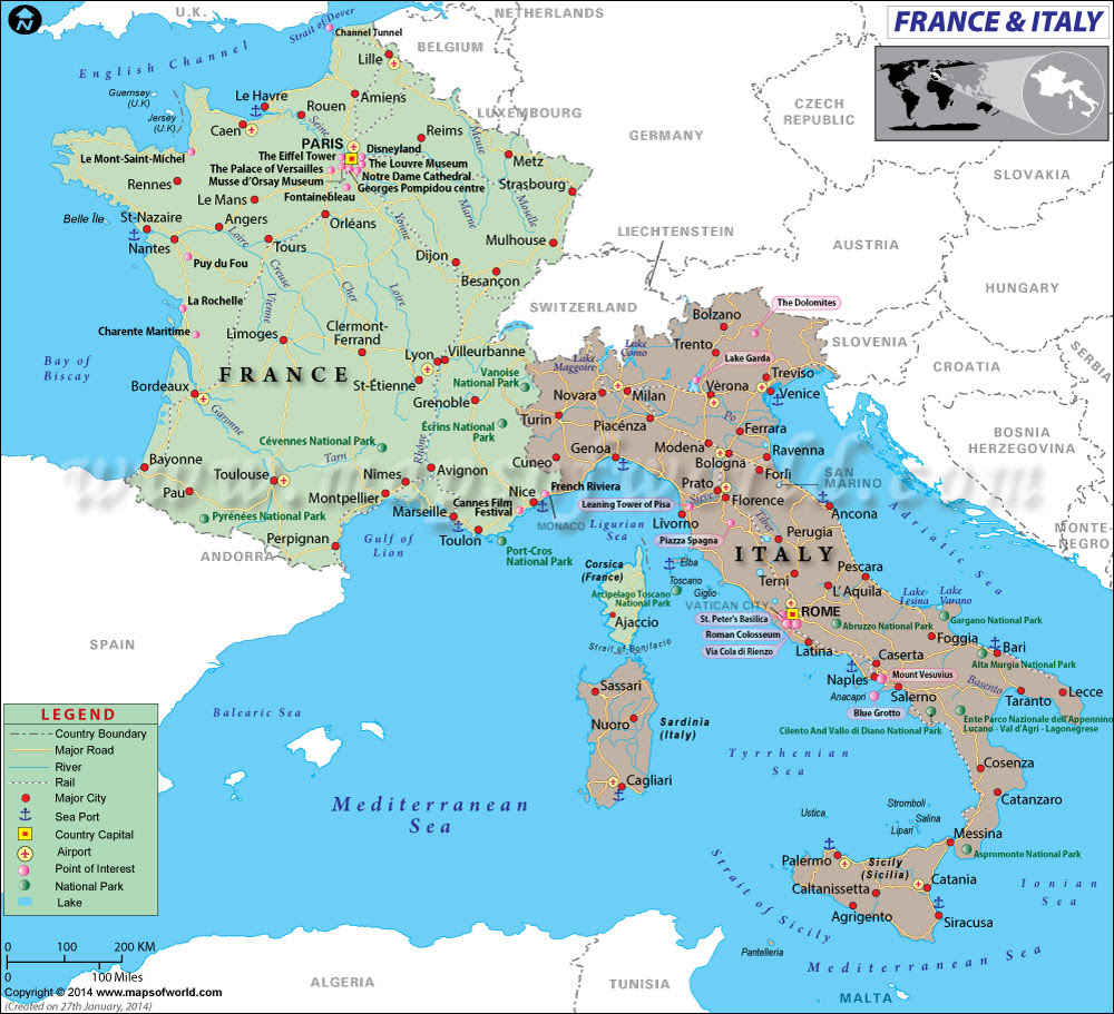 Map Of North East Italy.Italy And France Map Map North East