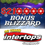 Weather Report Forecasts a 210K Bonus Blizzard at Intertops Casino this Winter
