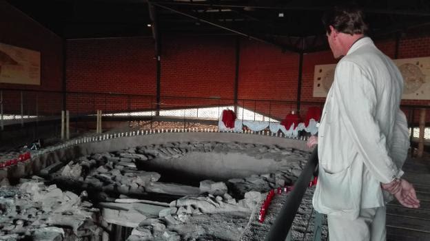 Enterramiento prehistórico de Huerta Montero, Almendralejo. Foto: Hoy.
