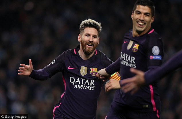 After missing out on a penalty, City were hit on the break as Lionel Messi gave Barca the lead