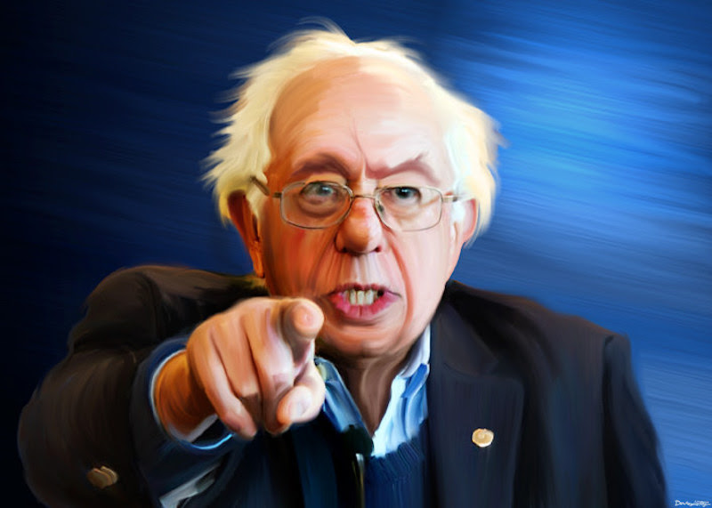 Bernie Sanders - Painting. DonkeyHotey Flickr (CC BY 2.0)