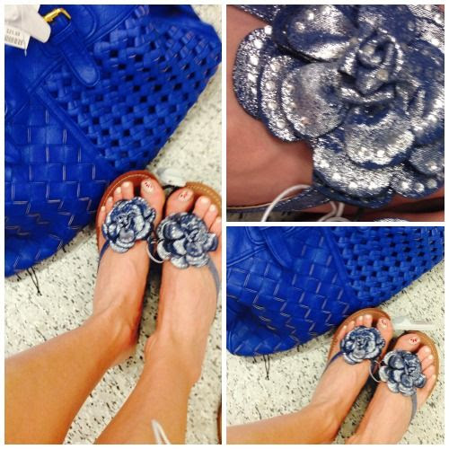 Denim Floral Flat Sandals at Ross Dress for Less
