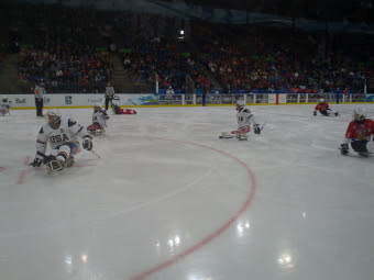 Sledge hockey game