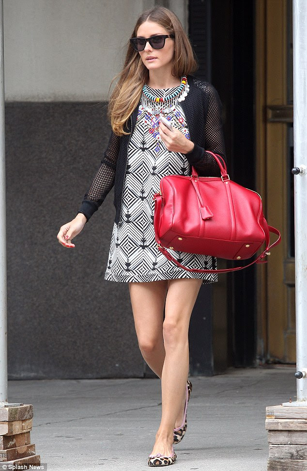 Such a trend-setter! Olivia Palermo showed her daring styled as she stepped out in Manhattan on Tuesday