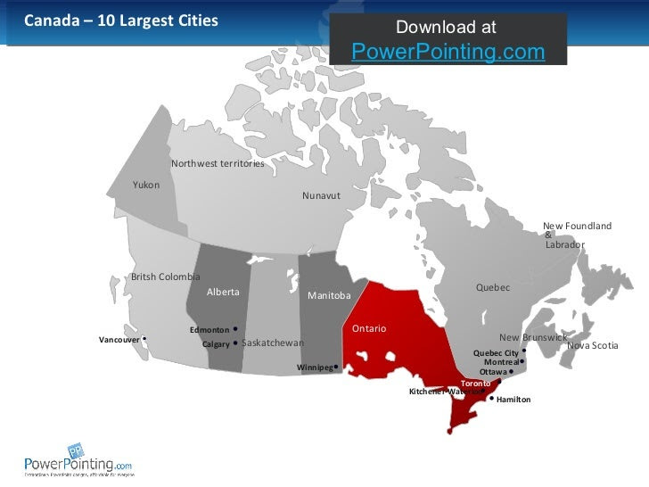 Powerpoint Canada Map