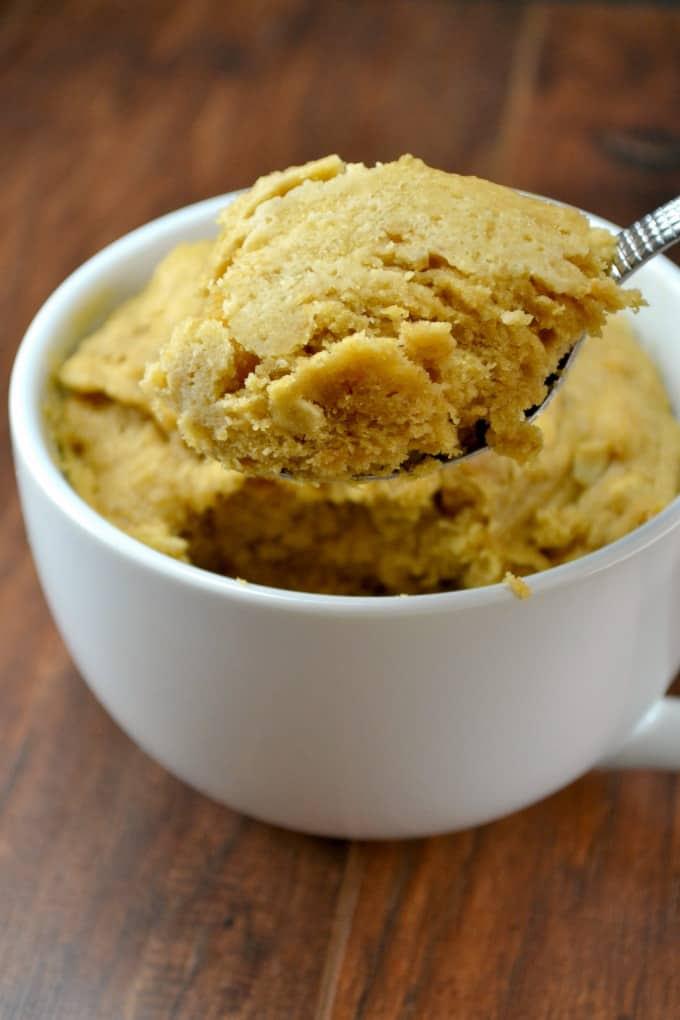 Peanutbutter Cookie Mug Cake Recipe - gluten free, dairy free