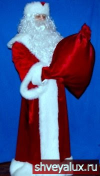 Костюм Деда Мороза - Царский из бархата и меха.