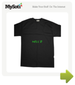 Hello tee by MadHippo. Available from MySoti.com.
