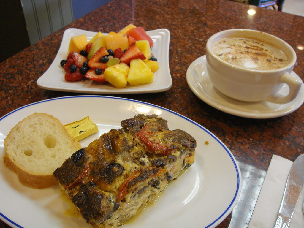 Vegetable Frittata and Fruit Salad