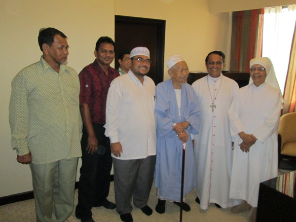 From left: Abdul Rahman, Arokiadass, Mujahid, Nik Aziz, Sebastian and Marie Jeanne