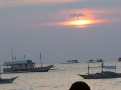 The sun sets over Boracay