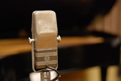 Studio RCA Microphone in the Norman Petty Recording Studios, Clovis, New Mexico