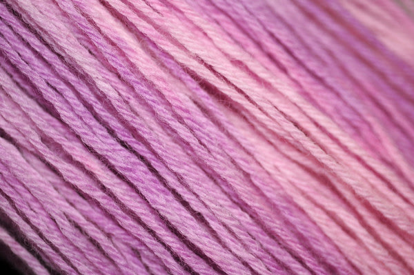 snow-dyed wool