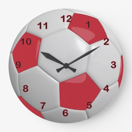 Soccer Ball | Dark Red Wallclock