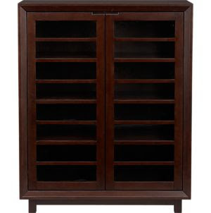 Storage Cabinets: Storage Cart & Cabinet Shopping: Mid-tone: Glass ...