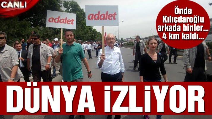 Son dakika… CHP'nin tarihi 'Adalet Yürüyüşü'