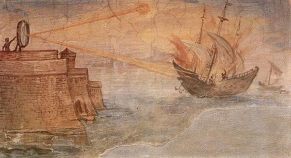 Οι «Φλεγόμενοι Καθρέφτες» του Αρχιμήδη από τον Giulio Parigi
