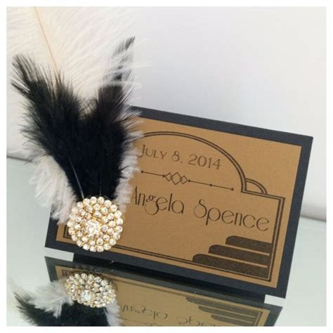 Great Gatsby place card or escort cards Old by