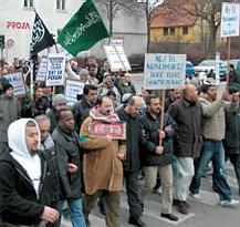 Demonstration in Odense, February, 2006