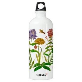 Botanical Illustration on SIGG Water Bottle 1.0L SIGG Traveler 1.0L Water Bottle