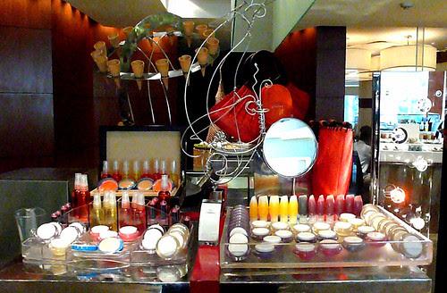 circles candy cosmetics counter