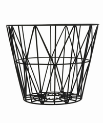 Wire Basket - Black (S, M, L)