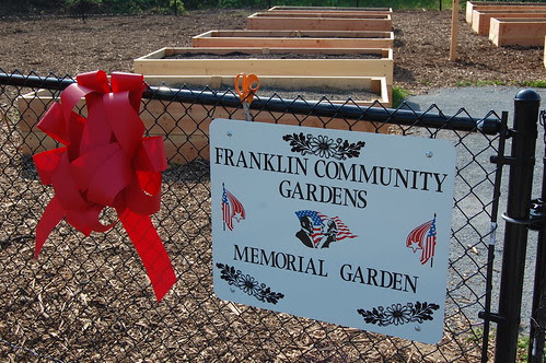 Franklin, MA: Community Gardens - Opening Day