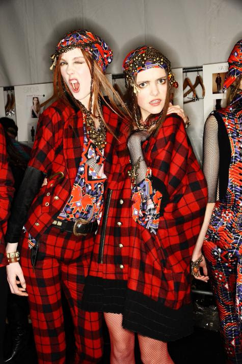 Alexandre Herchcovitch Fall/10 - Kate Somers and Imogen
