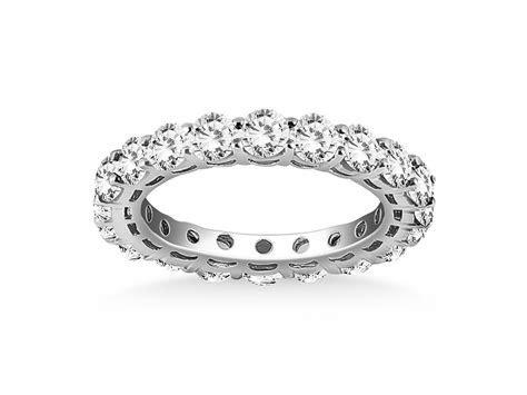 Open Gallery Round Cut Diamond Eternity Ring in 14 White