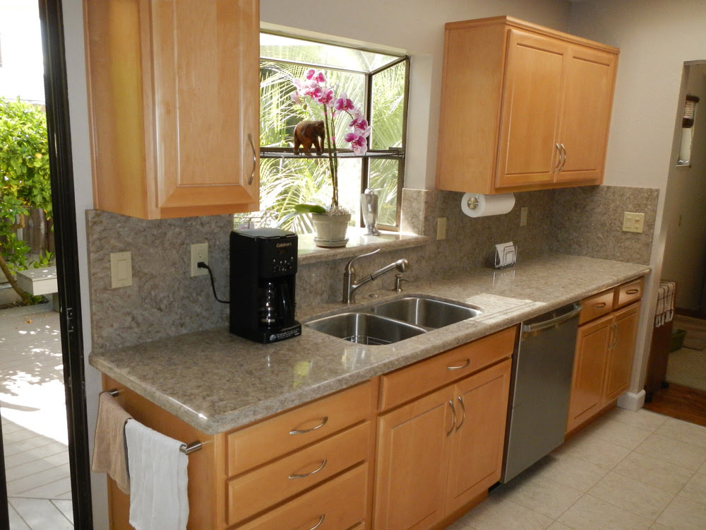 Galley Kitchen Remodel - before and after photos