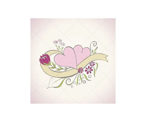 Wedding vector art   Beautiful floral hearts for wedding