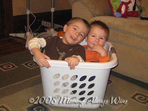 boys in a basket