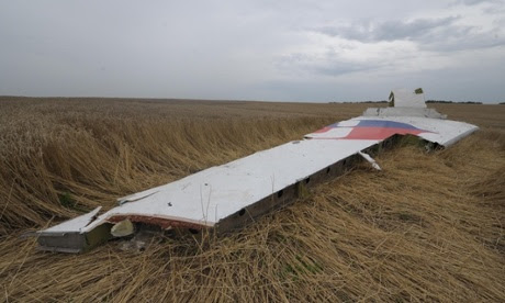 A part of Malaysia Airlines MH17 near Grabovo, Ukraine